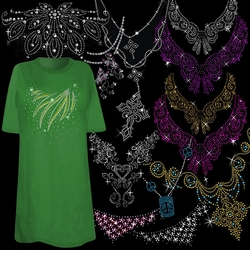 "<font size=""2"" color=""green""><b><center>Beautiful Sparkly Necklines"