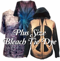 Plus Size Bleach Tiedye