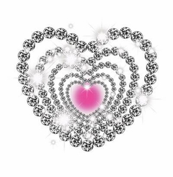SALE! Bling Love Silver & Pink Hearts Plus Size & Supersize T-Shirts S M L XL 2xl 3xl 4x 5x 6x 7x 8x (Lights Only)