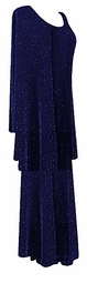 SOLD OUT! Captivating Blue Glimmer Plus Size & Supersize 2pc Top & Skirt Set  1x 2x 3x 4x 5x 6x 7x 8x 9x