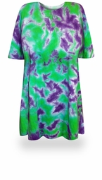 CLEARANCE! Passion Flower Tie Dye Plus Size T-Shirt 3x