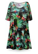 CLEARANCE! Black Orchid Print Plus Size & Supersize Extra Long T-Shirts 4x
