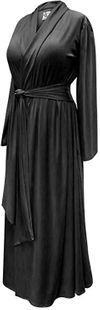CLEARANCE! Black Plus Size Robe with Attached Belt! Poly/Cotton, Soft Rayon or Softer Brushed Jersey Knit Robes 3x
