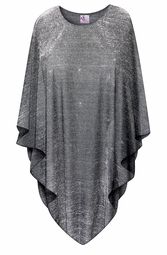 SOLD OUT! Black with Silver Glimmer Lines Plus Size and Supersize Poncho