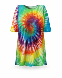 SOLD OUT! Classic Rainbow Swirl Tie Dye Plus Size T-Shirt  4XL