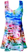 CLEARANCE! Color Splash Tie Dye Plus Size & Supersize  X-Long Tank Top 1x