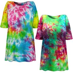 CLEARANCE! Cosmic Marble Tie Dye Plus Size T-Shirt XL