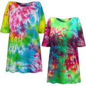 CLEARANCE! Cosmic Marble Tie Dye Plus Size T-Shirt 6x