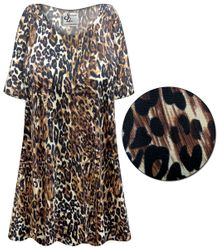 CLEARANCE! Customizable Black & Brown Animal Slinky Print Plus Size & Supersize Short or Long Sleeve Shirts - Tunics - Tank Tops - Sizes 5x