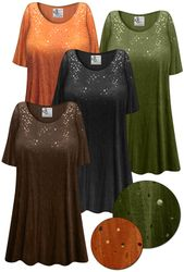 SOLD OUT! Customizable Crinkled Fabric With Sparkles Plus Size & Supersize Extra Long T-Shirts 3x