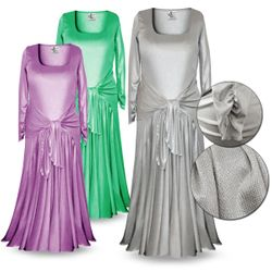 SOLD OUT! Customizable Long Sleeve Plus Size & Supersize Shimmer Evening Gown Dresses 4x 5x