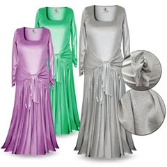 CLEARANCE! Customizable Long Sleeve Plus Size & Supersize Shimmer Evening Gown Dresses 4x 5x
