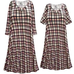 CLEARANCE! Plus Size Black White & Pink Plaid Print Sleep Gown - Muumuu - Moo Moo Dress 9x