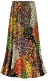 CLEARANCE! Customizable Plus Size Perfectly Peacock Slinky Print Skirts - Sizes XL Tall