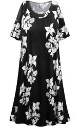 CLEARANCE! Floral Origami Print Plus Size & SuperSize Muumuu - Moo Moo Dress 5x