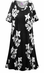 SOLD OUT! Floral Origami Print Plus Size & SuperSize Muumuu - Moo Moo Dress 5x
