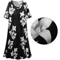 CLEARANCE! Floral Origami Print Plus Size & SuperSize Muumuu - Moo Moo Dress 8x