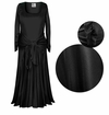 SOLD OUT!  Long Sleeve Plus Size & Supersize Dresses! Black Slinky Evening Gowns, Size