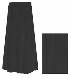 CLEARANCE!  Lovely Plain Solid Black or Navy Poly/Cotton Elastic Waist Plus Size Skirt 0x 1x 2x 3x 4x 6x