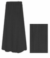 CLEARANCE!  Lovely Plain Solid Black or Navy Poly/Cotton Elastic Waist Plus Size Skirt 0x 1x 2x 4x