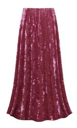 CLEARANCE! Mauve Ice Velvet Plus Size Skirt 0x/1x