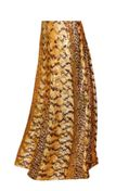 CLEARANCE! Orange, Brown, and Yellow Autumn Leaves Metallic Slinky Print Plus Size & Supersize Skirts 1x