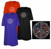 SOLD OUT! Patriotic Flag Peace Sign Sparkly Rhinestuds Plus Size & Supersize T-Shirts 3x