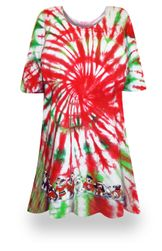 CLEARANCE! Peppermint Swirl Tie Dye Supersize X-Long Plus Size T-Shirt 2x