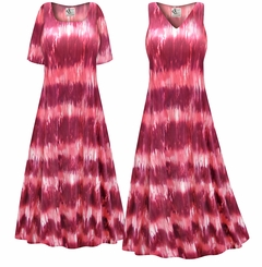 CLEARANCE! Pink Abstract Slinky Print Plus Size & Supersize Tank Dress 0x 3x