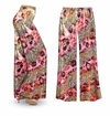 FINAL CLEARANCE SALE! Pink Leopard with Gold Metallic Slinky Print Plus Size & Supersize Palazzo Pants LG