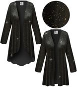 SOLD OUT! Plus Size Black & Glitter Slinky Jackets & Dusters 6x