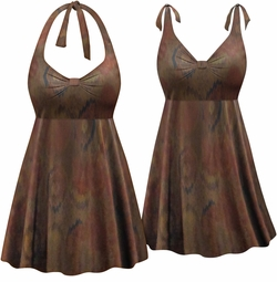 CLEARANCE! Plus Size Canyons Print Halter or Shoulder Strap 2pc Swimsuit/SwimDress 1x 3x