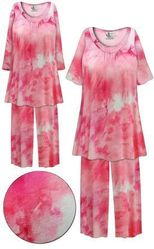 CLEARANCE! Plus Size Cotton Candy Marbled Print 2 Piece Pajama Pant Set 4x