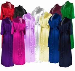 SOLD OUT! Plus Size Cotton or Satin Robes - Beautiful Lightweight Satin or Comfy Cotton Size 6x