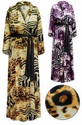 SOLD OUT!  Plus Size Customizable Animal Print Lightweight Satin Robe 4x