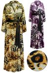 CLEARANCE!  Plus Size Customizable Animal Print Lightweight Satin Robe 1x