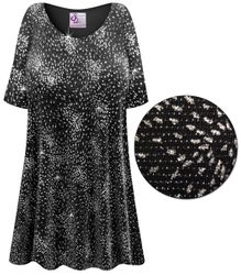 SOLD OUT! Plus Size Glittery Fireworks Slinky Print Short or Long Sleeve Shirts - Tunics - Tank Tops 6x
