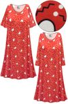 CLEARANCE! Plus Size Hearts Print Ultra Soft Brushed Poly Blend Sleep Gown - Muumuu - Moo Moo Dress 6x