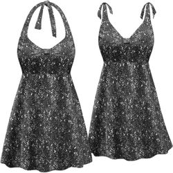 SOLD OUT! Plus Size Pacific Bay Print Halter Style Swimsuit/SwimDress