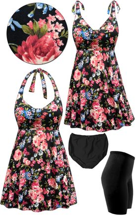 Sold Out Clearance Plus Size Pink Roses Print Halter Or