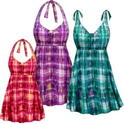 CLEARANCE! Plus Size Sunseeker Print Halter or Shoulder Strap 2pc Swimsuit/SwimDress 2x 4x