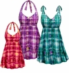 CLEARANCE! Plus Size Sunseeker Print Halter or Shoulder Strap 2pc Swimsuit/SwimDress 1x 2x 3x 5x 6x 8x