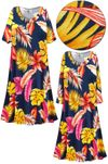 SOLD OUT! Plus Size Tropical Print Sleep Gown - Muumuu - Moo Moo Dress 6x