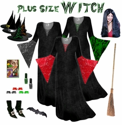 FINAL CLEARANCE SALE! Plus Size Witch Costume and Accessories! Plus Size & Supersize XL 0x