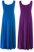 CLEARANCE! Purple or Royal Plus Size & Supersize Princess Cut Dresses 2x