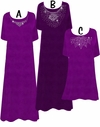CLEARANCE! Purple & Silver Slinky Princess Cut Rhinestone Plus Size Supersize Dresses 0x 3x