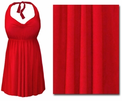 FINAL CLEARANCE SALE! Plus Size Red 2PC Halter or Straps Style Swimsuit/Swimdress 0x