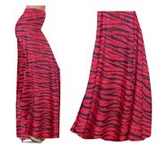 CLEARANCE! Red With Black Zebra Stripes With Dots Slinky Print Special Order Plus Size & Supersize Pants, Palazzos or Skirts! 3x