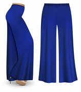 SOLD OUT! Royal Blue Wide Leg Palazzo Pants in Slinky, Velvet or Cotton Fabric - Plus Size & Supersize 2x