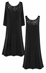 CLEARANCE! Gorgeous Slinky or Velvet Sparkly Rhinestone Starry Night Plus Size Dresses 2x
